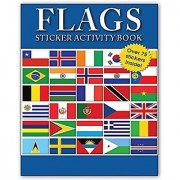 Flags Sticker Activity Book - Children's Sticker Activites Books for Kids - Flags from countries all over the world
