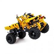 BIOZEA Building Toys Pullback Racing Car Truck Building Blocks Set 402PCS DIY Assembly Technic Educational Building Construction Block Toy Help with Brain Development for Children