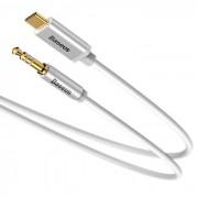 Baseus USB-C to Audio 3.5 mm Cable - USB-C към 3.5 мм аудио кабел (бял)