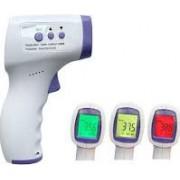Termometru cu Infrarosu contactless Afisaj Digital LCD extra large 3 Alarme COLOR temperatura Timp Distanta masurare 3-5 cm