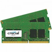 Crucial DRAM 8GB Kit 4GBx2 DDR4 2400 MT/s PC4-19200 CL17 SR x8 Unbuffered SODIMM 260pin, EAN 649528774804 CT2K4G4SFS824A