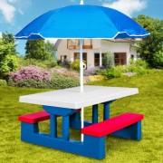 Dětský zahradní set se slunečníkem DEU Riša