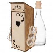 Pudełko skrzynka stojak na wódkę nalewkę kieliszki