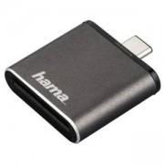 Четец за карти HAMA 124186 USB 3.1 Type-C,SD UHS-II, Сив, HAMA-124186