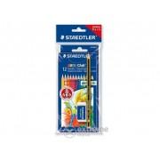 """Creioane colorate Staedtler """"Noris Club"""" cu radieră, 12 culori"""
