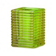 Vierkant ribbelglas voor refills (lime)
