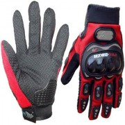 Red Pro Biker Riding Hand Glove (XXL Size)