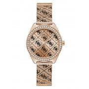 Guess Analoog Horloge 4G Logo Overal - roze goud - Size: T/U