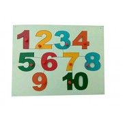 AARAVISION Wooden Puzzle - Counting 1-10 - Counting 1-10 Shapes Fitting Into Exact Groves