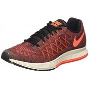 Nike Women's Air Zoom Pegasus 32 Black, Hyper Orange and Bright Crimson Running Shoes - 5 UK/India (38 EU)(5.5 US)