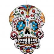 Merkloos Opblaasbare Day of the Dead schedel 100 cm hangdecoratie