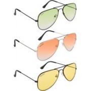 NuVew Aviator Sunglasses(Green, Orange, Yellow)