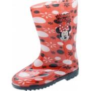Cizme din cauciuc pentru fetite Disney Minnie Mouse CCD-06 Rosu 28