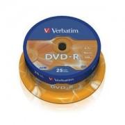 DVD-R 16X 4.7GB AZO MATT SPINDLE 25