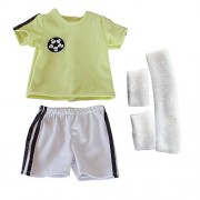FARVISION Girl 18 inch Baby Girls Boys Dolls Clothes Toys,Doll Soccer Outfits Sports Uniform T-Shirt Shorts Wristband Headband for 18 inch American Girl Doll & Boy Doll