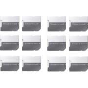 YTM (Pack of 12) Pcs MicroSD to SD SDHC Memory Card Adapter Converter Jack (Grey) 64 GB MicroSD Card Class 10 10 MB/s Memory Card
