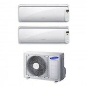 Samsung Condizionatore Samsung Dual Split Inverter 7000+9000 7+9 Btu Maldives A++/a+ Aj040ncj2eg/eu / R-32