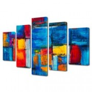 Tablou Canvas Premium Abstract Multicolor Culori Tari Decoratiuni Moderne pentru Casa 120 x 225 cm