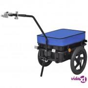 vidaXL Teretna Prikolica za Bicikl / Ručna Kolica Plava 70 L