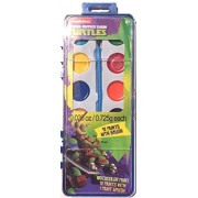 Teenage Mutant Ninja Turtles Water Paint. Kids Coloring Set With 1 Brushes Included. 12 Colors. Great For Indoor Or Outdoor Play. Great Gift