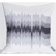 Styleica Kuddfodral heart-beat 50x50 cm, vit/grå/svart