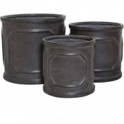The Pot Co Clayfibre Chelsea Cylinder Planter Available in 5 Sizes