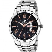 Espoir Analogue Stainless Steel Black Dial Day and Date Boy's and Men's Watch - BlackRaySam0507