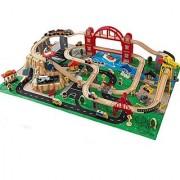 Kidkraft Metropolis Train Set with Roll-Up Felt Play Mat