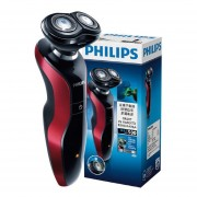Philips máquina de afeitar eléctrica recargable RQ320 actualización S530 con enfoque automático diseño giratorio 3D inteligente ajuste cuerpo lavable hombres afeitadora(S538-Rojo)