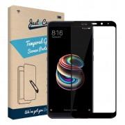 Just in Case Full Cover Gehard Xiaomi Mi A2 Screenprotector Glas Zwart