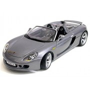 Porsche Carrera Gt Convertible, Gray Maisto 36622 1/18 Scale Diecast Model Toy Car