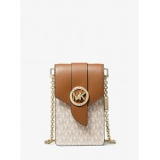 Small Logo And Leather Smartphone Crossbody Bag