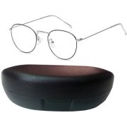 Davidson Round Metal Silver Frame Sunglasses