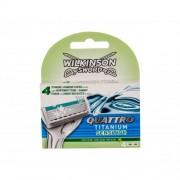 Wilkinson Sword Quattro Titanium Sensitive 4 ks sada náhradných hlavíc pre mužov