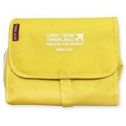 Everyday shop Multifunctional Travelling Storage Organizer Pouch Long Term Travel Bag Polyester Standard Size Travel Toiletry Kit(Yellow)