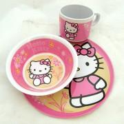 Hello Kitty étkészlet - műanyag