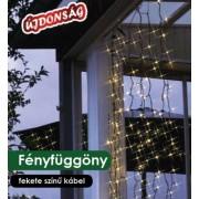 Fényfüggöny díszvilágítás 0,9x2m 192db hideg fehér LED KDL 133