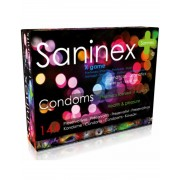 Saninex x game preservativos punteados aromatizados 144 uds