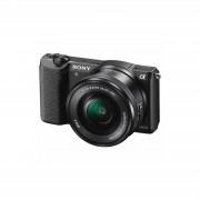 Sony Alpha A5100 16-50mm Lens Black ILCE-5100LB Mirrorless Digital Camera 24,3MP 16-50 kit fotoaparat i objektiv APS-C CMOS ILCE-5100LB