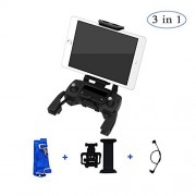 Foldable Tablet Ipad Extended Front Holder Mount with Lanyard and Lightning Micro USB Cable for DJI Mavic Pro Platinum Alpine White AIR Spark Remote Controller