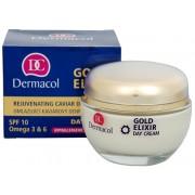 Dermacol Cremă zilnică cu extract de caviar SPF 10 (Gold Elixir Day Cream) 50 ml