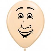 Baloane latex 16 inch inscriptionat man's face blush, qualatex 99309, set 50 buc