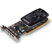 Placa video PNY NVIDIA Quadro P1000 DVI, 4GB GDDR5 (128 Bit), 4x miniDP (4x mDP to DVI), LP