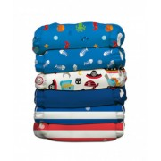 Set 6 scutece textile Charlie Banana - inserturi noi cu fleece , Ocean Flair