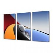 Tablou Canvas Premium Abstract Multicolor Negru Albastru Orange Si Rosu Decoratiuni Moderne pentru Casa 3 x 70 x 100 cm