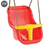 Leagan Baby Seat LUXE, Red/Yellow