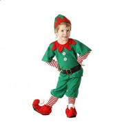 FLOWER Disfraz de Halloween para padres y niños, disfraz de Halloween para niños, disfraz de elfos de Navidad, disfraz de padre-hijo, festival para adultos, hombres y mujeres, disfraz de Navidad verde (dinero masculino, 140 cm)