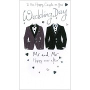 grote luxe trouwkaart - on your wedding day Mr and Mr happy ever after
