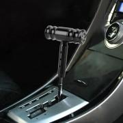 Universele auto draad Gear T-vormige hoofd Gear Shift knop (zwart)