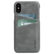 Protectie Spate Krusell Sunne Cover 2 Card KRS61443 pentru Apple iPhone XS (Gri)